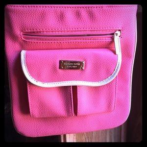 Pink/ Pebbled Leather/ Michael Kors Crossbody Bag